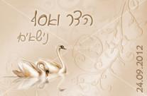 הזמנה לחתונה – ברבורים